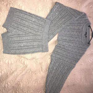 Fashion Nova Knotted sweater set.